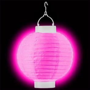 1pz Lanterna di carta luminosa Decorativa LED 20cm, rosa