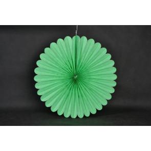 Ventaglio decorativo di carta 20cm verde
