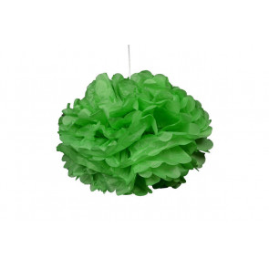 Pon pon di carta 20cm, verdi