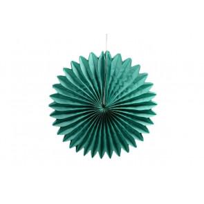 Ventaglio decorativo di carta, verde 30 cm
