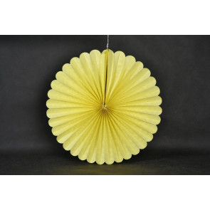 Ventaglio decorativo di carta 50cm giallo