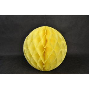 Palle di Carta a nido d'ape Honeycomb 20cm giallo