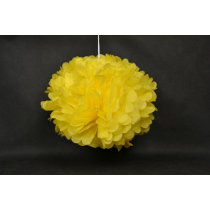 Pon pon di carta 50cm, giallo