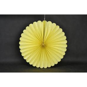 Ventaglio decorativo di carta 40cm giallo
